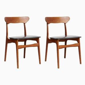 Esszimmerstühle von Schiønning & Elgaard für Schiønning & Elgaard, 1970er, 2er Set