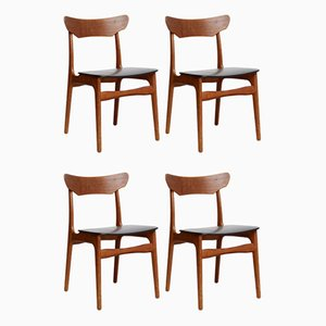 Dining Chairs by Schiønning & Elgaard for Randers, 1970s, Set of 4