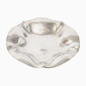 Platte aus gehämmertem Silber von WMF, 1940er
