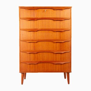 Vintage Danish Teak Dresser with Sculptural Handles from Trekanten, 1960s