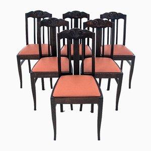 Antike Polnische Esszimmerstühle, 1930er, 6er Set