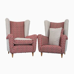 Spotted Armchairs by Paolo Buffa, 1950s, Set of 2