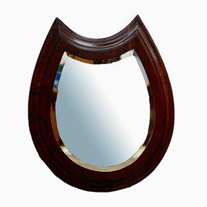 Victorian Mahogany Horseshoe Mirror