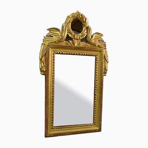 Small Antique Golden Wood Mirror