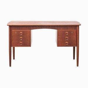 Danish Modern Double Sided Teak Desk