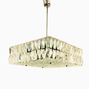 Lámpara colgante de cristal de Kalmar, años 60