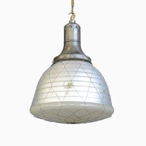 Lámpara colgante de vidrio mercurizado de Adolf Meyer para Zeiss, 1932
