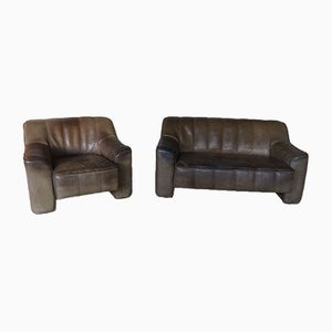 Vintage Model DS44 Sofa & Chair from de Sede, Set of 2