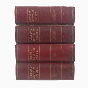 Antique English Map Compendiums, Set of 4
