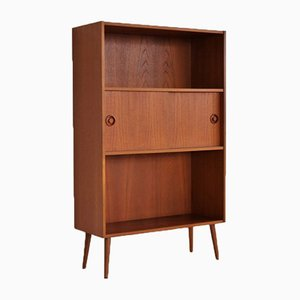 Vintage Teak Bookcase With Storage