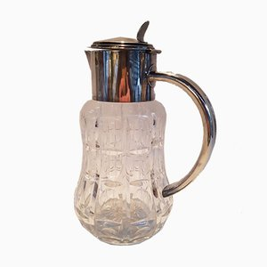 Crystal and Silver-Plated Metal Jug
