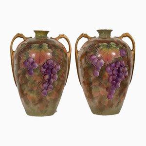 Dekorative dekorative handbemalte Weinamphoren, England, 1950er, 2er Set