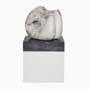 Abstrakte Skulptur und Ständer aus Marmor, 1960er