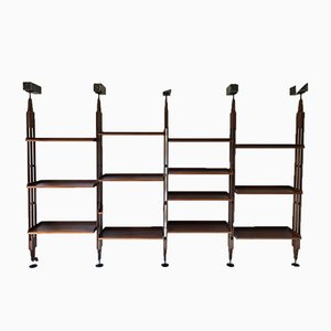 Model LB7 Modular Mahogany Shelf by Franco Albini for Poggi, 1989