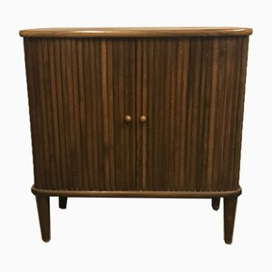Danish Walnut Jalousie Cabinet, 1960s