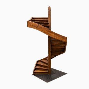 Großes antikes Lehrlingsmodell einer Treppe