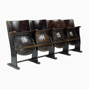 Four Seat Cinema Bench from TON, Czechoslovakia, 1950s