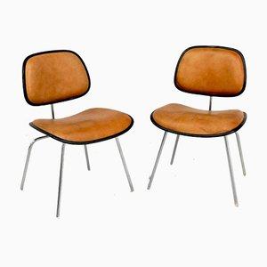 Sillas de comedor DCM modernas de Charles & Ray Eames para Herman Miller, años 70. Juego de 2