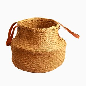Vintage Zana Wicker Basket, 1970s