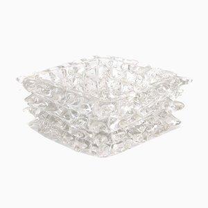 Rostrato Bullicante Murano Glass Bowl, 1930s