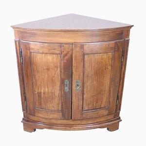 Antique Solid Walnut Corner Cabinet, 1850s