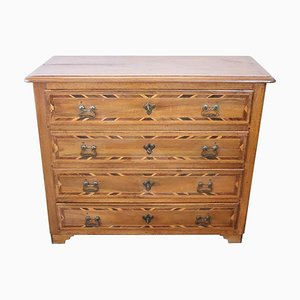 Antique Inlaid Walnut Chest of Drawers, 1680s