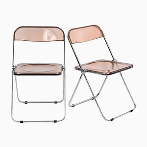 Mid-Century Plia Lucite and Chrome Folding Chair by Giancarlo Piretti for Castelli / Anonima Castelli