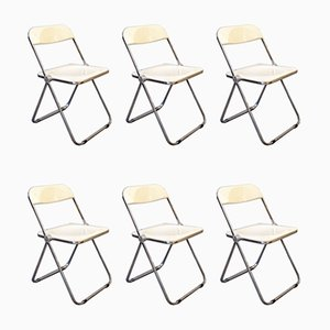 Chaises de Salon Pila par Giancarlo Piretti pour Castelli / Anonima Castelli, 1967, Italy, Set de 6