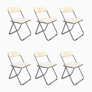 Pila Esszimmerstühle von Giancarlo Piretti für Castelli / Anonima Castelli, 1967, Italien, 6er Set