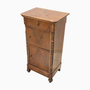Antiker Nachttisch aus Nussholz, 1840er