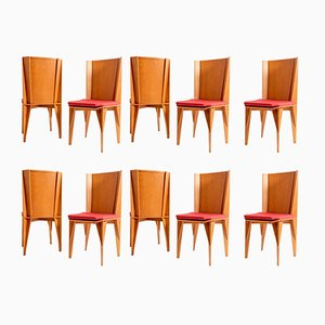 Italian Chairs by Suman for Giorgetti, 1984, Set of 10