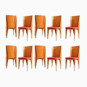 Italienische Stühle von Suman für Giorgetti, 1984, 10er Set