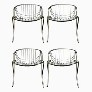 Model Lynn Chairs by Gastone Rinaldi for Rima, 1970s, Set of 4