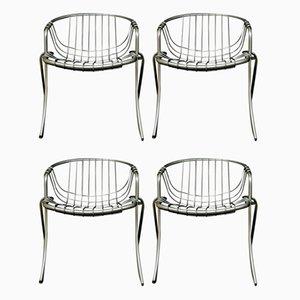 Modell Lynn Stühle von Gastone Rinaldi für Rima, 1970er, 4er Set