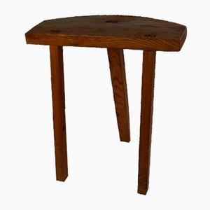 Mesa escandinava vintage de madera maciza, años 60