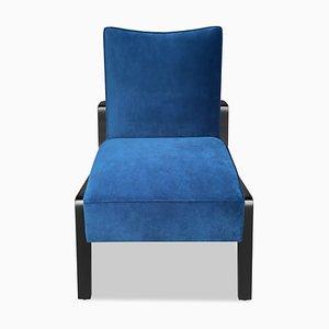 Schwarzer Abena Chair aus Ebenholz, Buche & Blauer Notte im Art Deco Stil von Casa Botelho