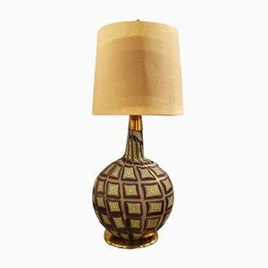 Lampada da tavolo in vetro e ottone di Tea Morosati per Stilnovo, anni '60