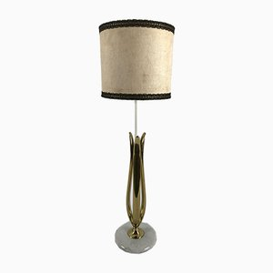 Marble and Brass Table Lamp, 1950s
