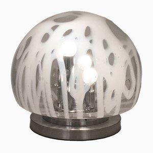 Lampada da tavolo vintage in vetro di Murano di Mazzega