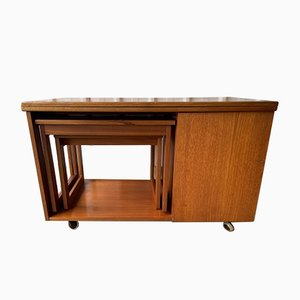 Mid-Century Tristor Metamorphic Extending Teak Nesting Tables from Mcintosh, Set of 3