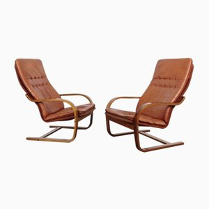 Leather Armchairs, 1970s, Set of 2