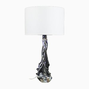 Lampada da tavolo in cristallo di Schneider per Schneider, anni '50