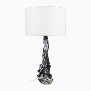 Tischlampe aus Kristallglas von Schneider für Schneider, 1950er