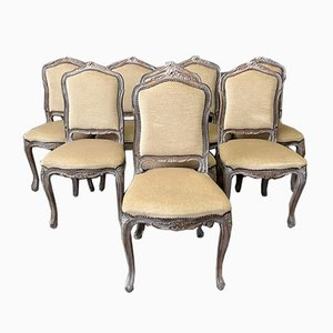 French Dining Chairs, 1930s, Set of 8
