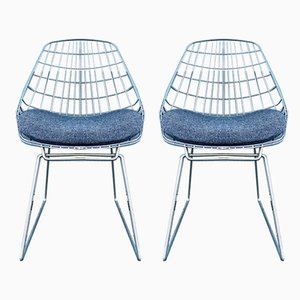 Mid-Century SM05 Wire Chairs from Pastoe, Set of 2