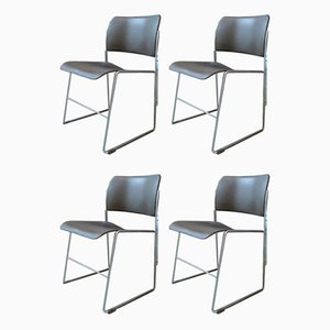 Model 40/4 Dining Chairs by David Rowland for GF Furniture, 1960s, Set of 4