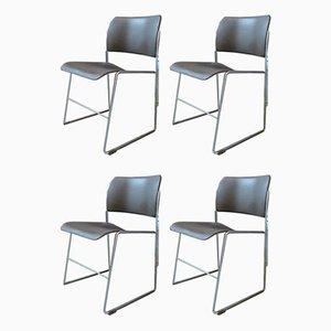 Modell 40/4 Esszimmerstühle von David Rowland für GF Furniture, 1960er, 4er Set