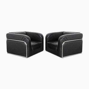 Vintage Stahlrohr Sessel, 2er Set