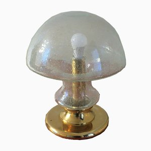 Mid-Century Bubble and Brass Lamp with Mushroom Shape from Doria Leuchten, 1960s
