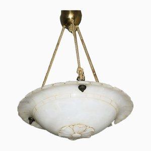 Lampada da soffitto Mid-Century in alabastro